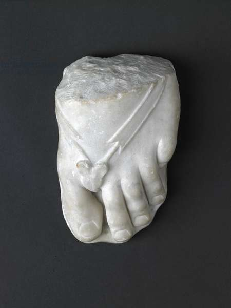 Fragment of a foot, 1st-4th century AD (marble)