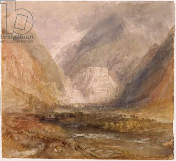 Swiss Valley Scene, 1836 (w/c on paper)