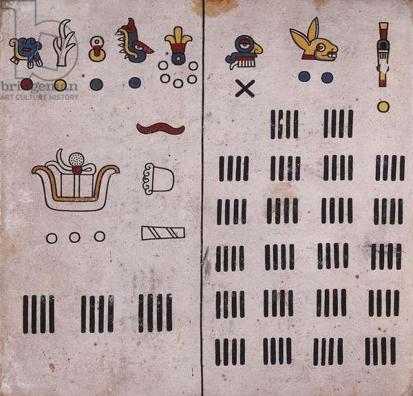 p.20 from the 'Codex Fejérváry-Mayer' (vellum)