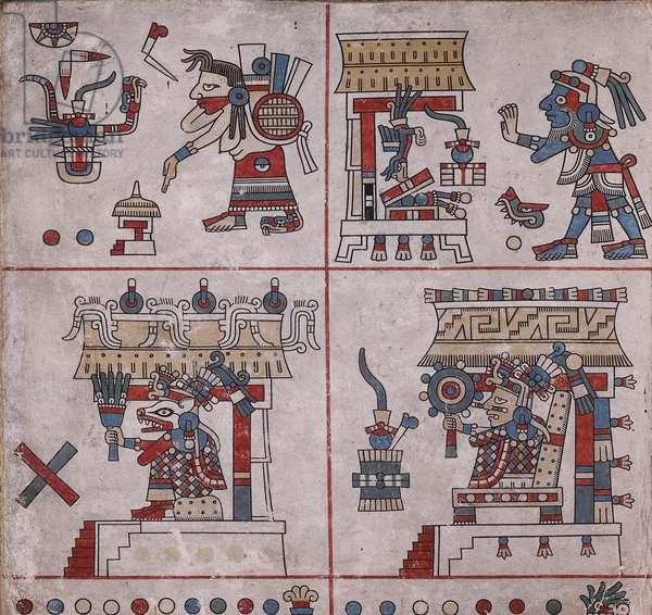 p.30 from the 'Codex Fejérváry-Mayer' (vellum)