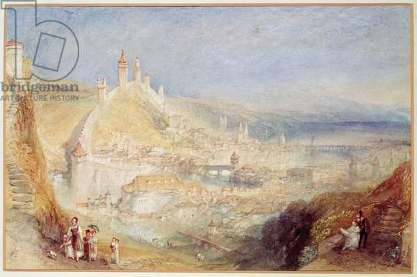 Lucerne from the Walls, c.1841 (w/c)