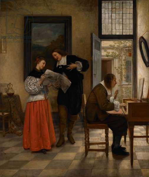 A Duet, 1869 (oil on canvas)