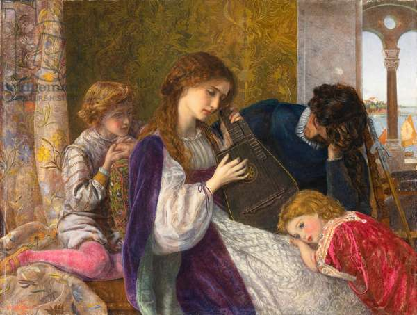 A Music Party, 1864 (oil on canvas)