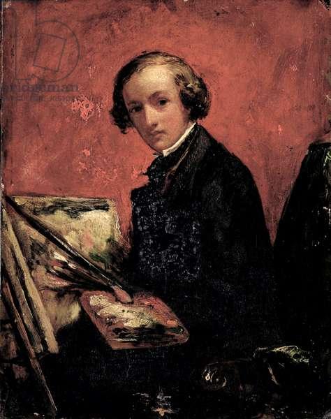 Self Portrait, 1847 (oil on board)