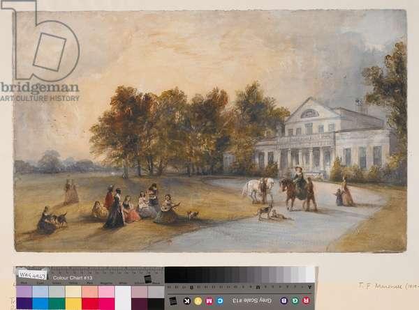 Larkhill House, Liverpool (1), 1842 (watercolour on paper)