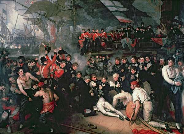 The Death of Nelson, 21st October 1805 (oil on canvas)
