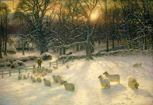 The Shortening Winter's Day is Near a Close (oil on canvas)