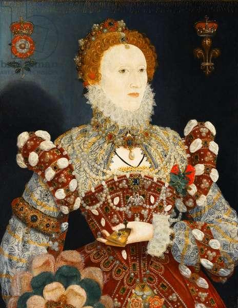 Queen Elizabeth I - The Pelican Portrait, c.1574 (oil on panel)