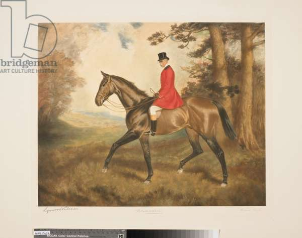 Colonel William Hall Walker on 'Buttercup', Richard Smythe after Lynwood Palmer, early 20th (mezzotint)