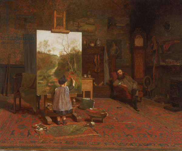 Finishing Touches, 1889 (oil on canvas)
