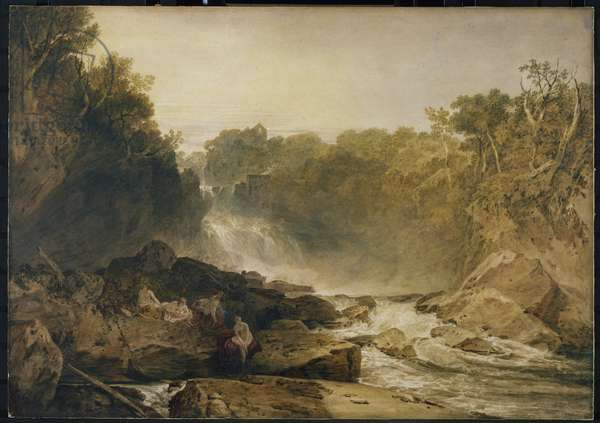 The Fall of the Clyde, Lanarkshire - Noon, 1802 (w/c on paper)