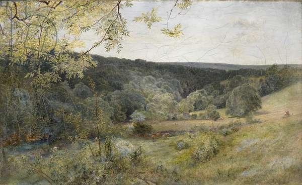 Brignall Banks, 1861 (oil on canvas)