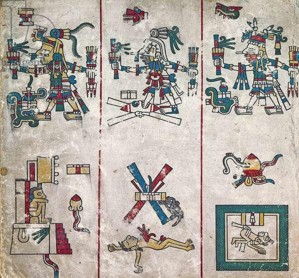 p.2 from the 'Codex Fejérváry-Mayer' (vellum)