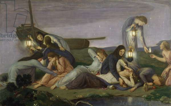 The Wise and Foolish Virgins, 1919-20 (oil on canvas)