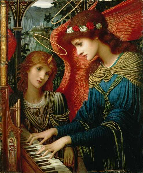 St. Cecilia, 1896 (oil on panel)