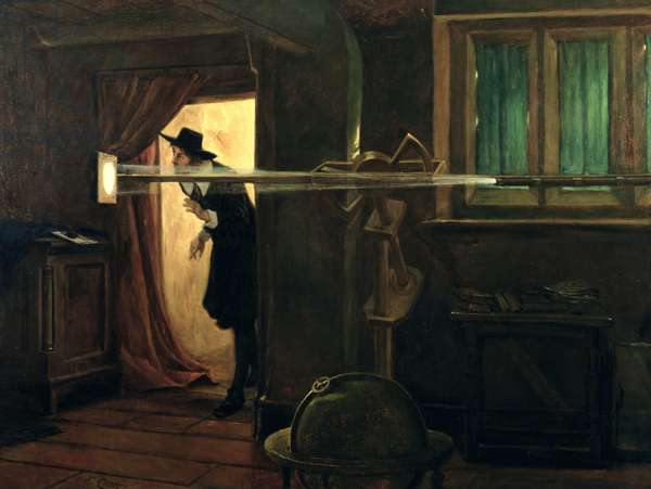 The Founder of English Astronomy (Jeremiah Horrocks), 1891 (oil on canvas)