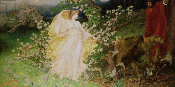 Venus and Anchises, 1889-90 (oil on canvas)