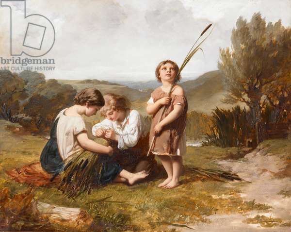 Rush Gatherers, 1852 (oil on canvas)