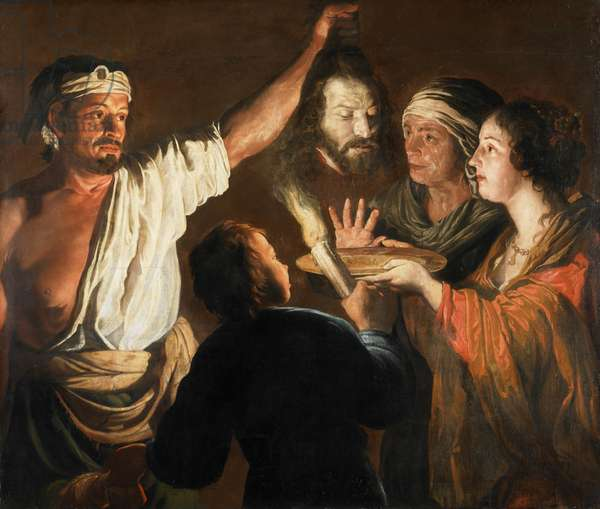 The Executioner with the Head of St. John the Baptist (oil on canvas)