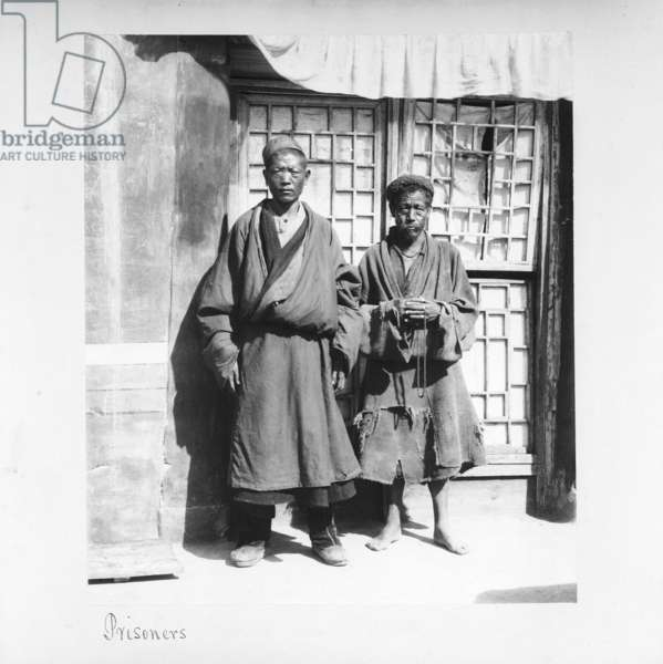 Prisoners, Tibet, 1903-04 (platinum print)