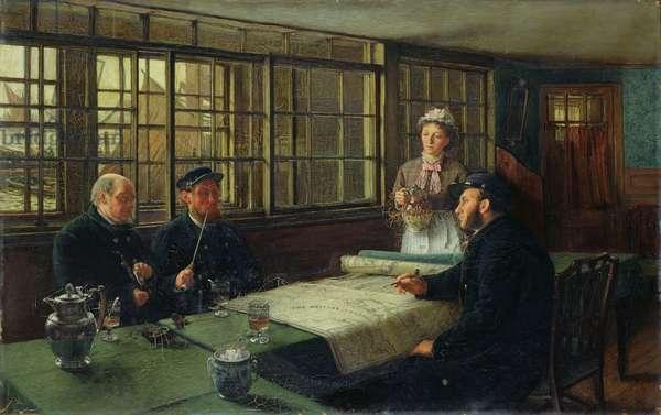 A Nautical Argument, 1877 (oil on canvas)