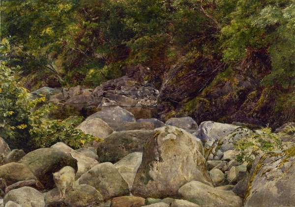 The Baa Lamb: View on a Tributary of the River Duddon, 1864 (oil on canvas)