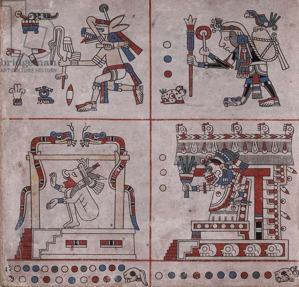 p.32 from the 'Codex Fejérváry-Mayer' (vellum)