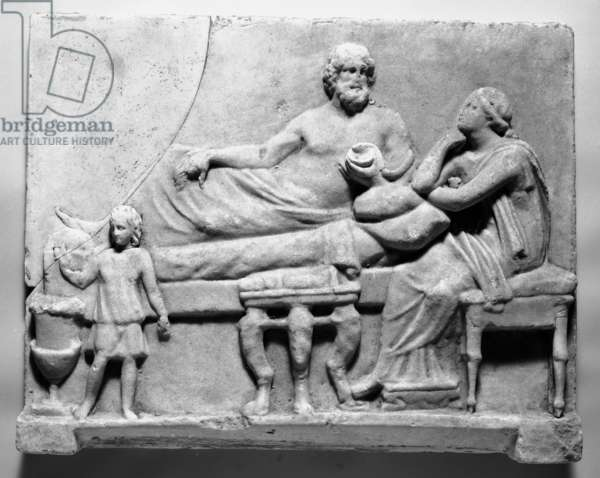 Funerary sculpture (marble)