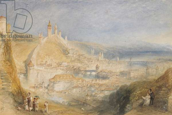Lucerne from the Walls, 1842 (w/c on paper)