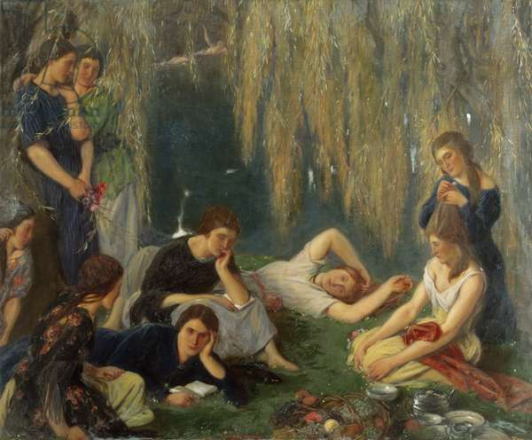 The Willow Pond, 1923 (oil on canvas)