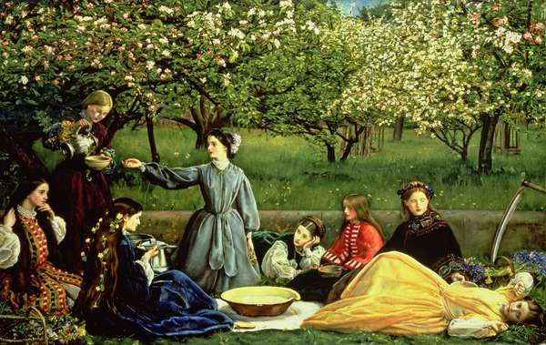 Spring (Apple Blossoms) 1859 (oil on canvas)