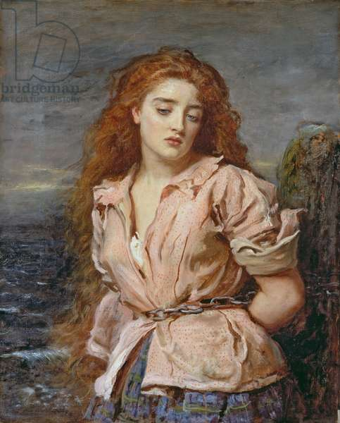 The Martyr of the Solway, 1871 (oil on canvas)
