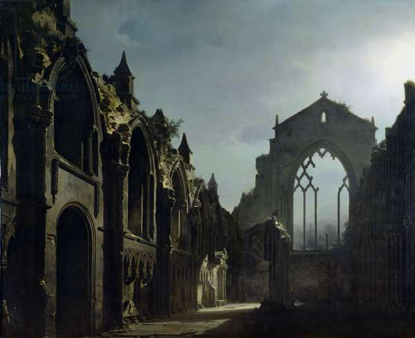 Ruins of Holyrood Chapel (oil on canvas)