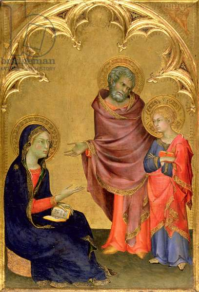 Christ Discovered in the Temple (egg tempera on panel)