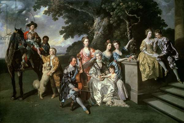 The Family of Sir William Young (1725-88) c.1766 (oil on canvas)