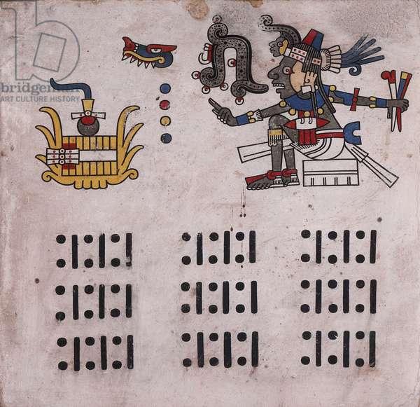 p.14 from the 'Codex Fejérváry-Mayer' (vellum)