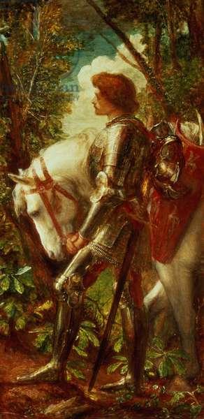 Sir Galahad (oil on canvas)