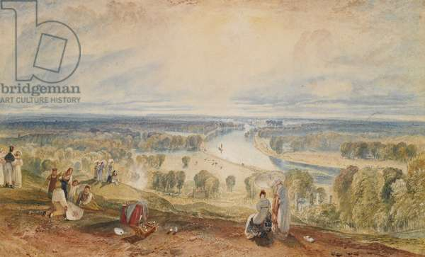 Richmond Hill, c.1825 (w/c over pencil, gum arabic & gouache on paper)