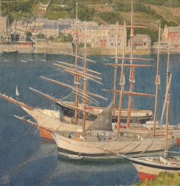Sailing Ships, 1910 (tempera on canvas)
