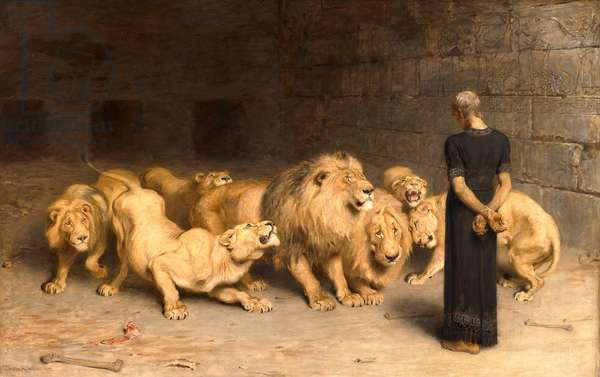 Daniel in the Lions' Den, 1872 (oil on canvas)