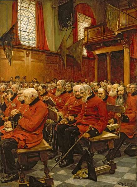 The Last Muster, 1875 (oil on canvas)