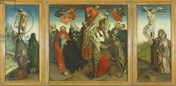 The Descent from the Cross (tempera on panel)