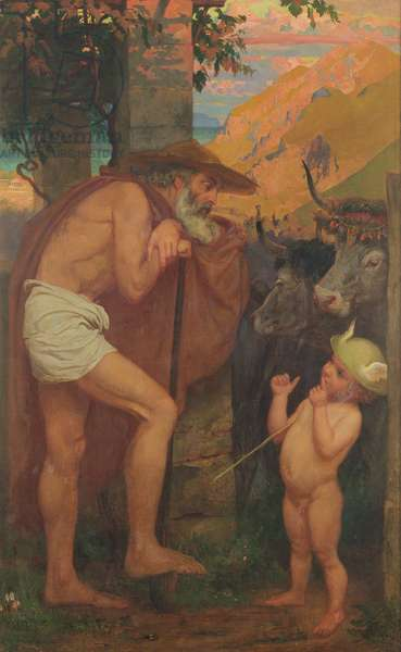 Mercury Stealing the Cattle of the Gods, 1860 (oil on canvas)