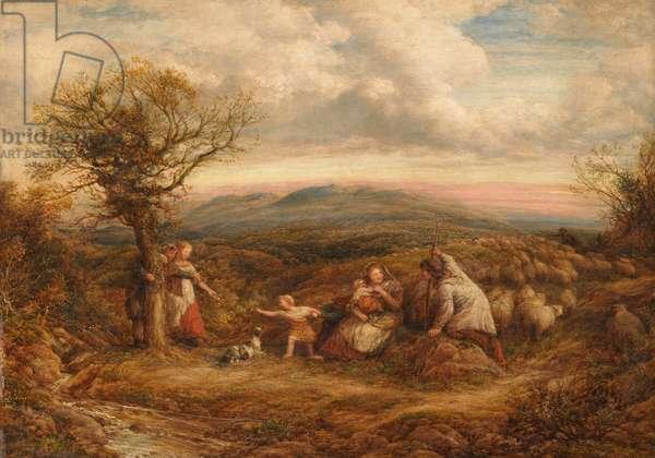 Pastoral (Mountain Shepherds), 1870 (oil on canvas)