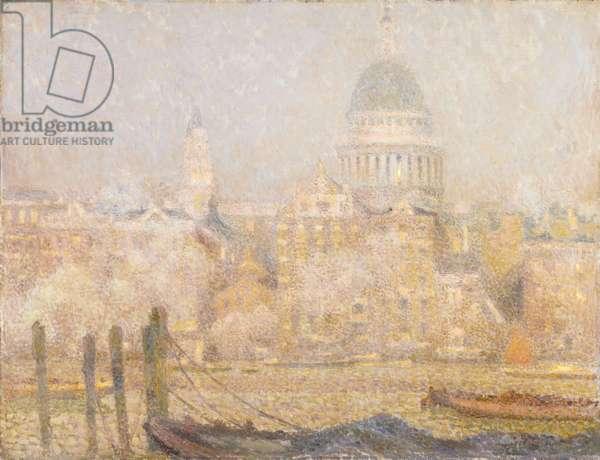 St. Paul's from the River, Morning Sun in Winter, 1906-07 (oil on canvas)