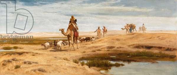On the Fringe of the Desert, 1884 (oil on canvas)