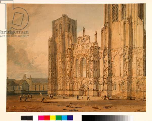Wells Cathedral, c.1795-96 (w/c over pencil on paper)