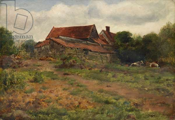 Landscape, Hampstead, 1848 (oil on canvas)