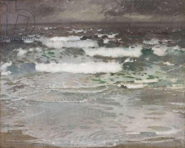 Cornish Seascape, 1907 (oil on canvas)