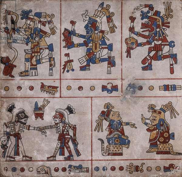 p.24 from the 'Codex Fejérváry-Mayer' (vellum)